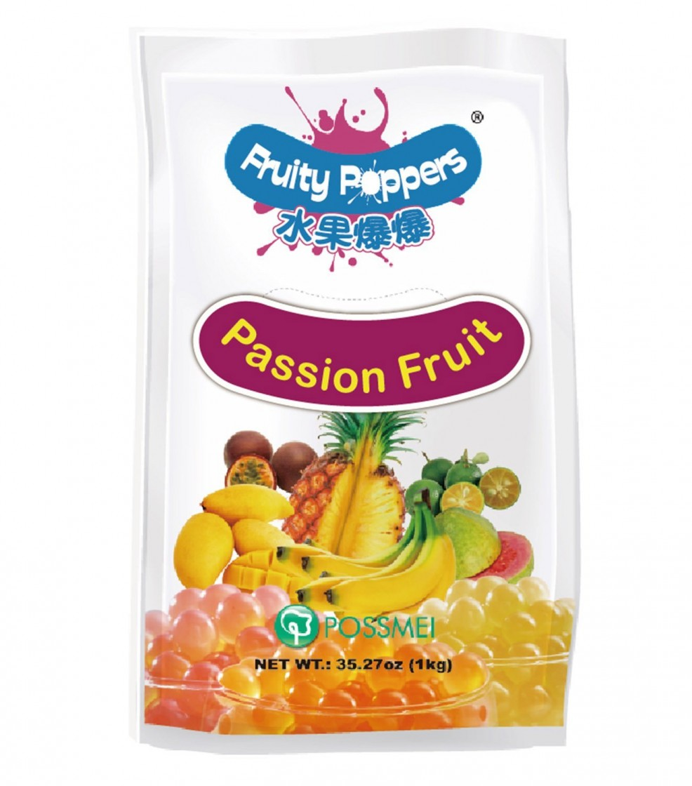 Passion fruit fruity poppers pouch