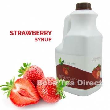 Strawberry Boba Tea Syrup