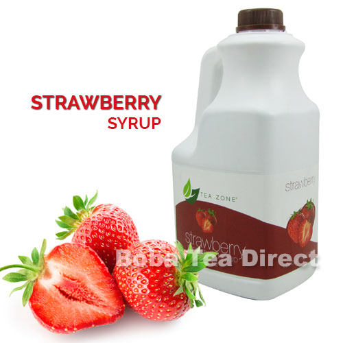 - Strawberry Boba Tea Syrup